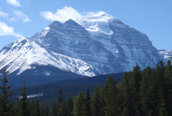 Mt Temple, Lake Louise, Banff Park