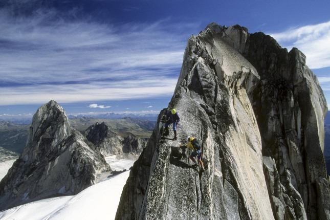 Guided climbing in the Bugaboos