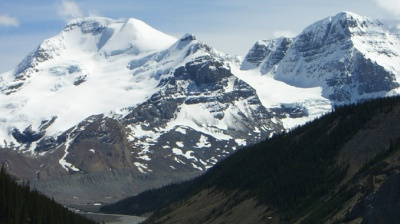 Mt Athabasca and Mt Andromeda, Coulumbia Icefields