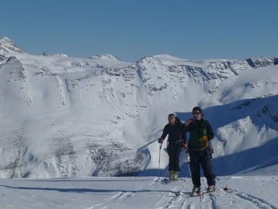 Ski tour Mt Bonney anda Ross Peak
