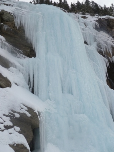 Guided ice climbing on Massey's