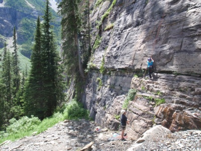 Rock Climb Lake Louise
