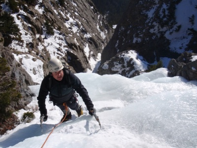 Rogan's Gully ice climb