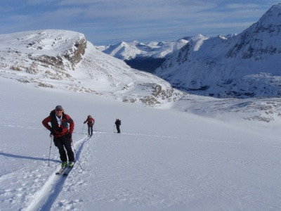 Ski tour in the Wapta Mountains
