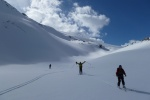 Skiing the Wapta traverse with ski guides