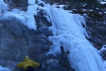 Ice climbs at Evan Tomas Creek Kananaskis Country