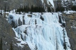 Guided ice climbing on Weeping Wall
