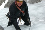 Ice climbing in the Ghost River, Candle Stick Maker 140m WI 5