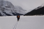 Ski tour Mistaya Lodge in the Canadian Rockies.