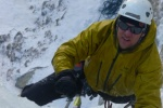 Guided ice climbing on Cool Spring, field BC