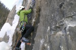 Groto Canyon ice climbs near Canmore