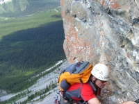 Rock route Joy, Kananaskis