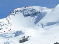 NE Ridge Route on Mt Athabasca